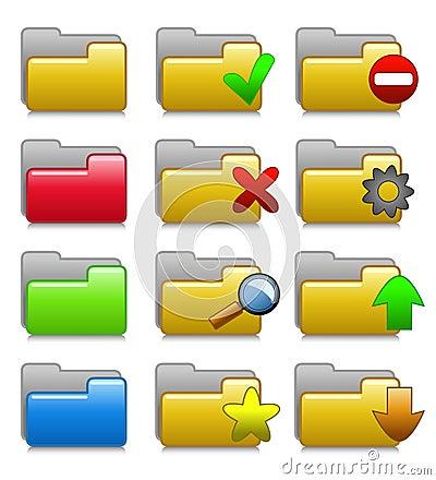 Folders Set - Web Media Applications Folders 01