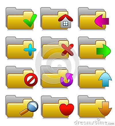Folders Set - Web Media Applications Folders 02