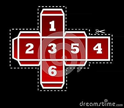 Folding dice template