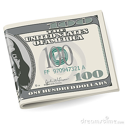 Folding Dollars Royalty Free Stock Images - Image: 26663129