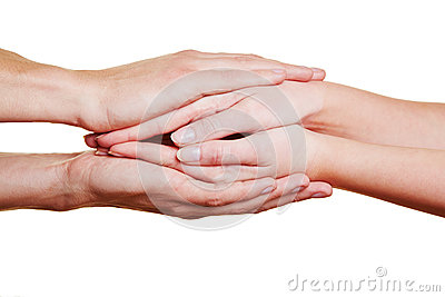 Folding hands for condolence