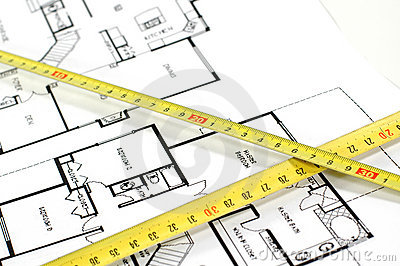 Folding rule and architectural plan