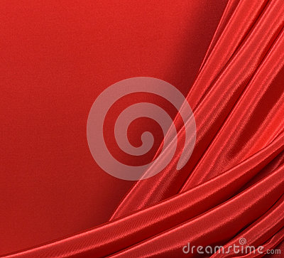 Folds of red silk