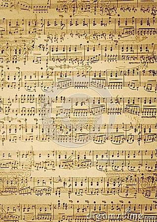 Folha de música do vintage