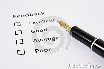 Folha do feedback/avaliação
