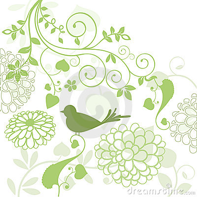 Foliage with bird