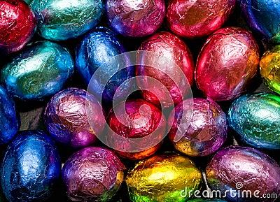 In folie verpakte chocoladeachtergrond