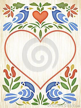 folk art heart  click image to