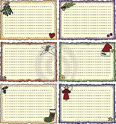 Folk Art Holiday Recipe Cards