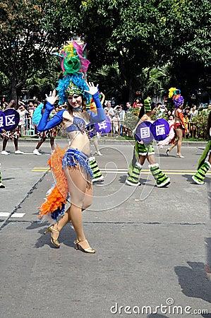 Folk arts parade Editorial Image