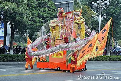 Folk arts parade Editorial Stock Photo