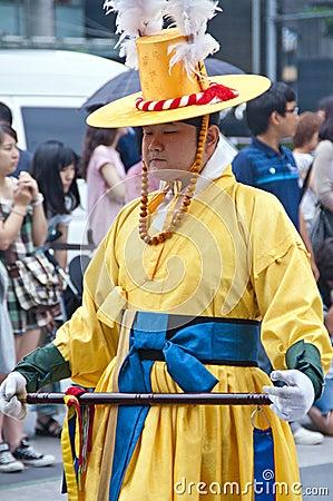 Folk celebrations in Seoul Editorial Stock Photo