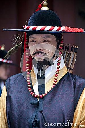 Folk celebrations in Seoul Editorial Photo