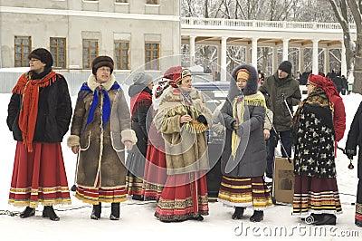 Folk chorus collective Editorial Stock Photo