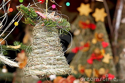 Folk christmas grass bell