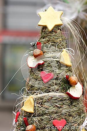 Folk Christmas spruce tree