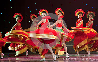 Folk Dance: colorful melody Editorial Stock Photo