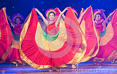 Folk Dance: colorful melody Editorial Image