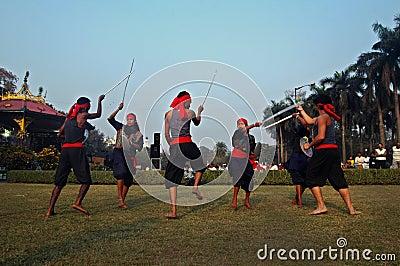 Folk dance of India Editorial Image
