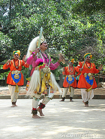 Folk Dance of India Editorial Image