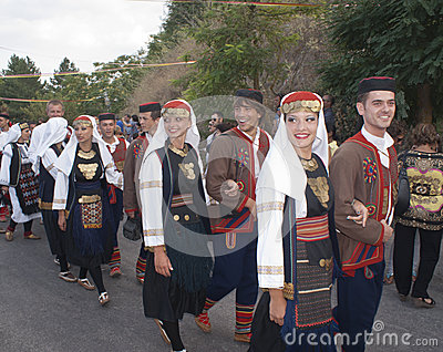 Folk group from bosnia Editorial Image