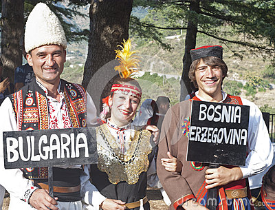 Folk group from Bulgaria Editorial Stock Photo