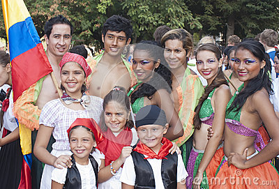Folk group from Colombia Editorial Image