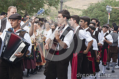 Folk group from sicily Editorial Stock Photo