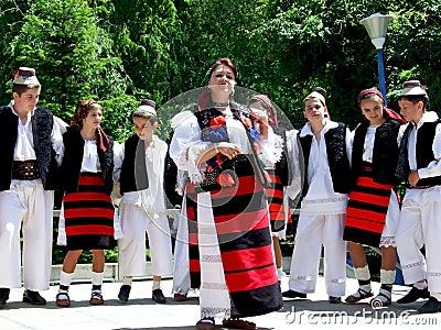 """Folk music group """"Junii Cosăului"""" Editorial Stock Photo"""