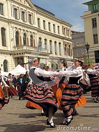Folk party in Riga