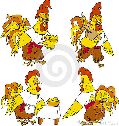 Folk rooster