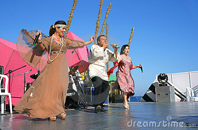 Folk singers Editorial Stock Image
