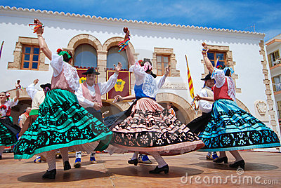 Folklore Dance in Europe Editorial Stock Photo