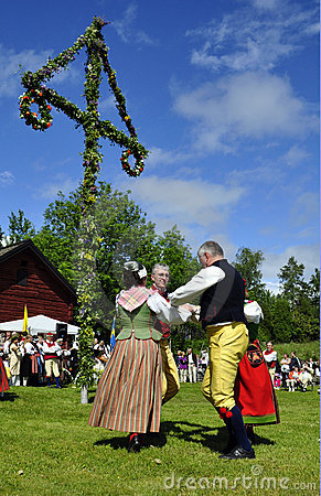 Folklore ensemble of Sweden Editorial Stock Image
