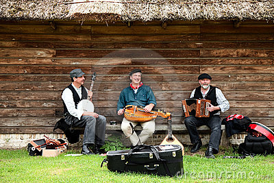 Folklore musicians Editorial Stock Image