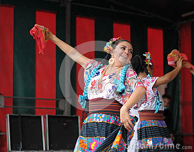 Folkloric dancer from Mexico Editorial Stock Image