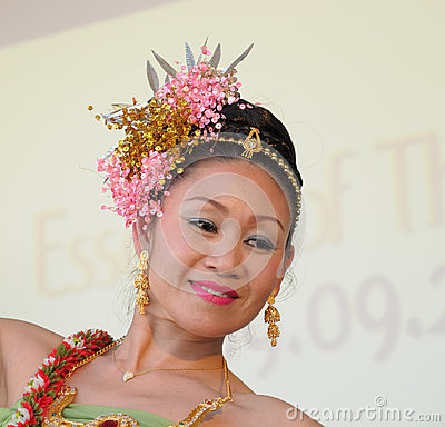 Folkloric dancer from Thailand Editorial Photo