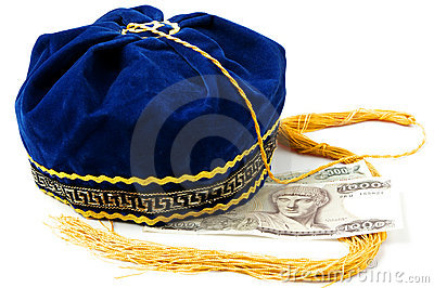 Folkloric Greek hat and old Greek banknotes