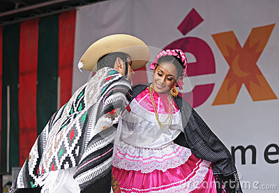 Folkloric mexican dance Editorial Stock Image