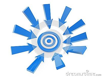 Follow arrow target