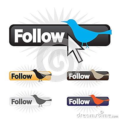 Follow Bird Icons