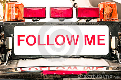 Follow me sign