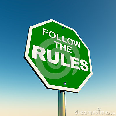 Free Follow The Rules Stock Photography - 28912872