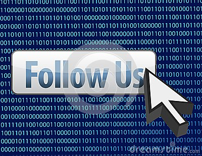 Follow us binary design and cursor