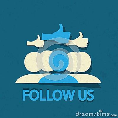Follow us thumb up!