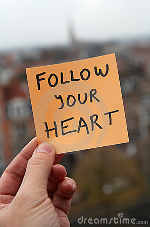 Free Follow Your Heart Stock Photos - 17653703