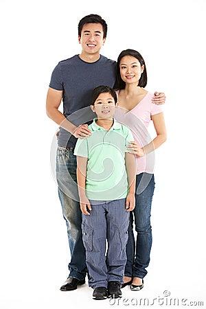 Folował Długości Pracownianego Strzał Chińska Rodzina