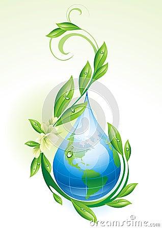 Fond écologique.