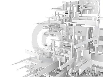 Fond 3d abstrait géométrique