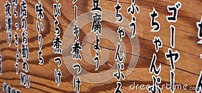 Fond abstrait de kanji